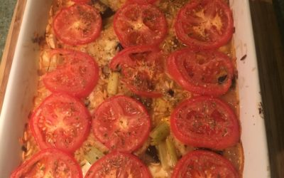 Baked Orzo with Mozz